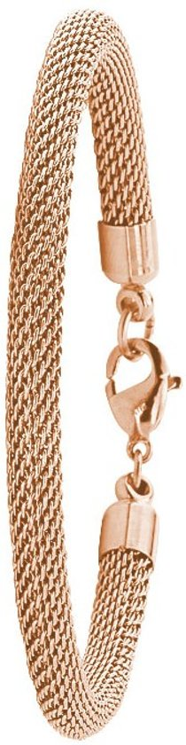 More Coins - Armband - Stalen rose plated muntarmband