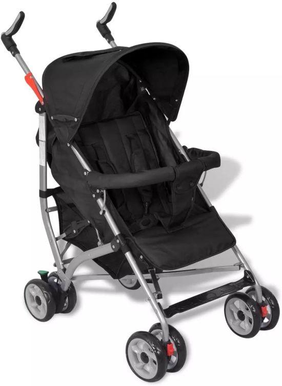 vidaXL - Kinderwagen Moderne kinderwagen zwart (5-standen)