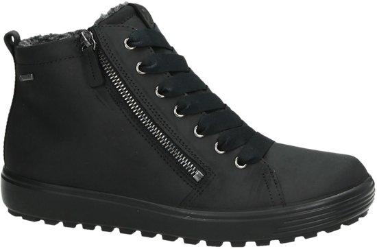 Tred Maat Oil 02001 Hoog 7 Ecco soft Nubuck Sneaker Zwart;zwarte 36 450163 Dames Gekleed black qnCwWO8tWx