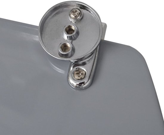 vidaXL WC-bril met MDF deksel en stenen-ontwerp