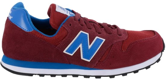 new balance blauw met rood