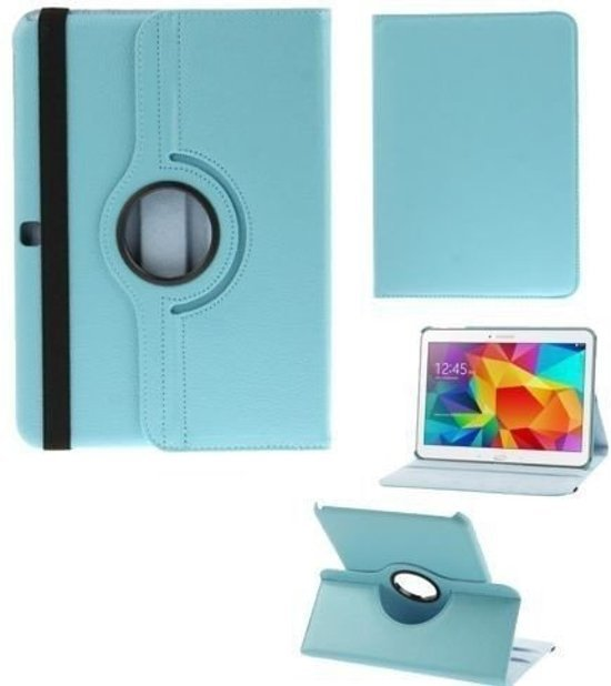 Pearlycase... Kunstleder Hoesje 360° Draaibare Book Case Bescherm Cover Hoes - Turquoise voor Samsung Galaxy Tab S5e 10.5 T720 / T725