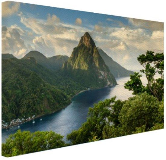 Sint-Lucia Canvas 120x80 cm - Foto print op Canvas schilderij (Wanddecoratie)
