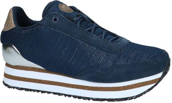 Donkerblauwe Sneakers Woden Ella Mesh