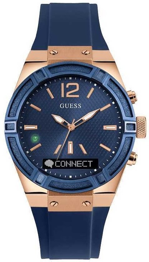 GUESS Connect smartwatch 41mm - Blauw
