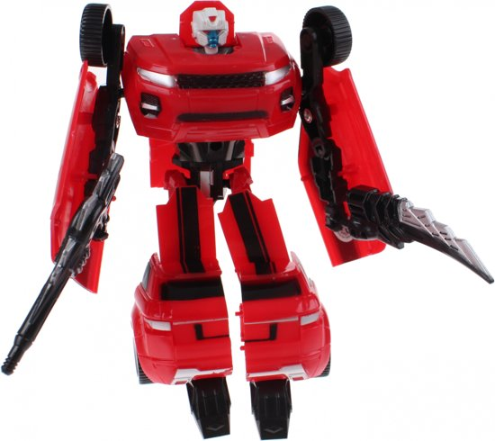 Toi-toys Roboforces Transformation Robot Rood 18 Cm