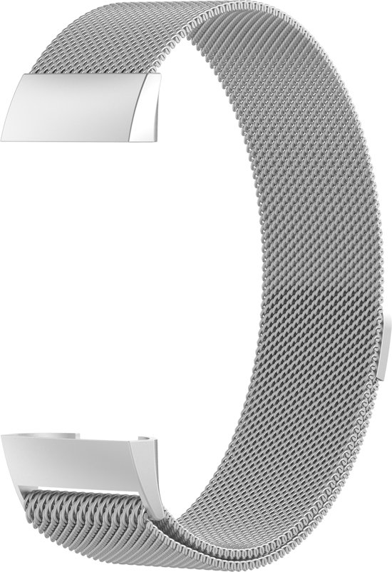 siston Milanees bandje - Fitbit Charge 3 - Zilver - Small