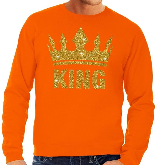 Gouden Glitter Trui.Bol Com Oranje King Gouden Glitter Kroon Sweater Trui Heren