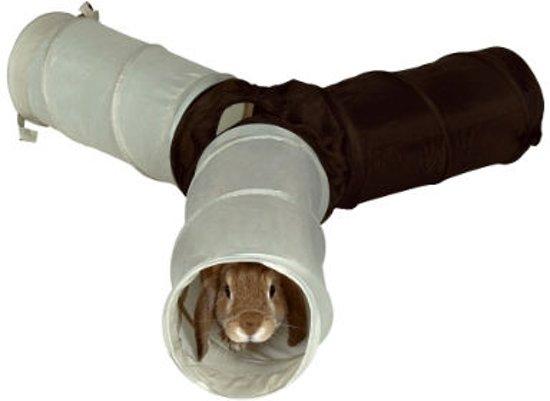 Trixie Speeltunnel 3 Gangen - Konijnenspeelgoed - 47 cm