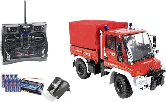 carson 1 12 unimog brandweer wagen 2 4 ghz 100 rtr carson speelgoed. Black Bedroom Furniture Sets. Home Design Ideas