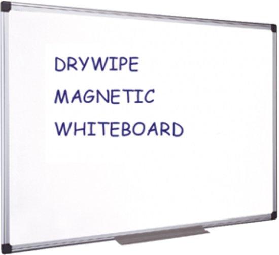 Quantore Whiteboard 90x120 cm - Magnetisch - Gelakt staal - met afleggoot