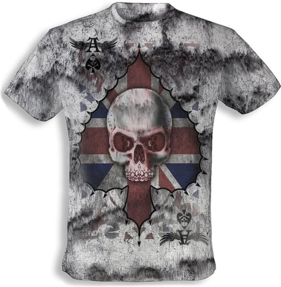 Alchemy - Vintage t-shirt - Ace of England Skull - L