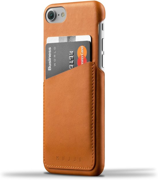 Mujjo Leather Wallet Case for iPhone 7- Tan