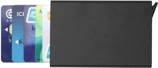 ad51325d358 Creditcardhouder / Kaarthouder / Pashouder - Aluminium - anti scam &  uitschuifbaar (zwart)