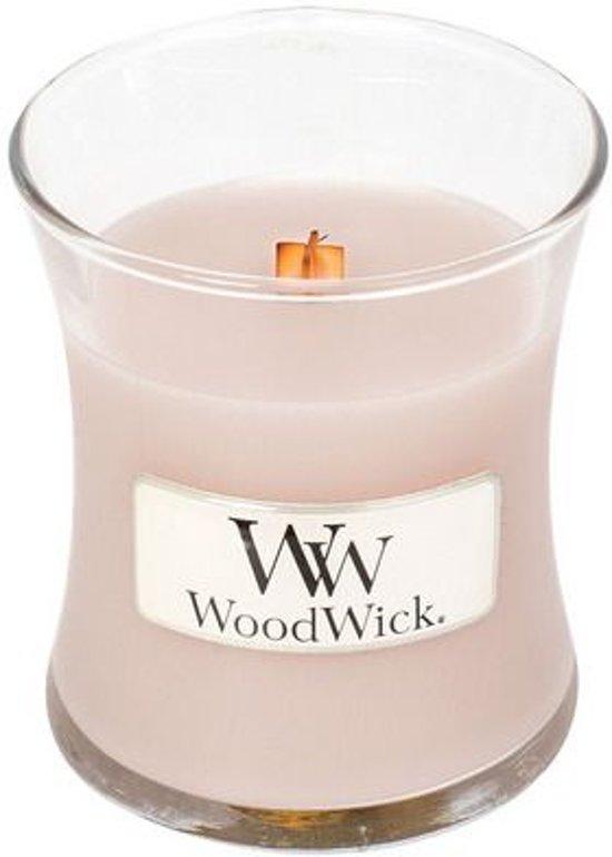 WoodWick® geurkaars - 8 x 7 cm - Vanilla & Sea salt