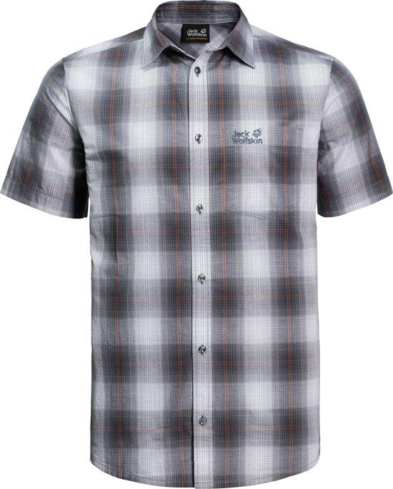 Jack Wolfskin Hot Chili Shirt Men - Heren - Blouse - Grijs/wit