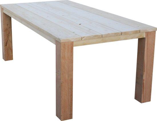 Industriële tafel kruispoot bouwpakket xsteigerhout