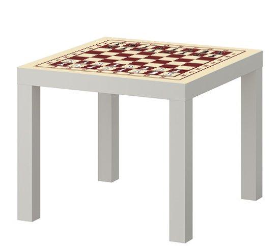 IKEA® Lack™ tafeltje met schaakbord print incl. stukken