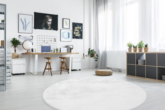 Arte Espina Modern vloerkleed Rabbit 100 Wit 160cm x 230cm