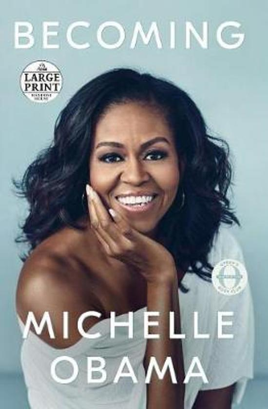 Boek cover Becoming (Large Print Edition) van Michelle Obama (Paperback)