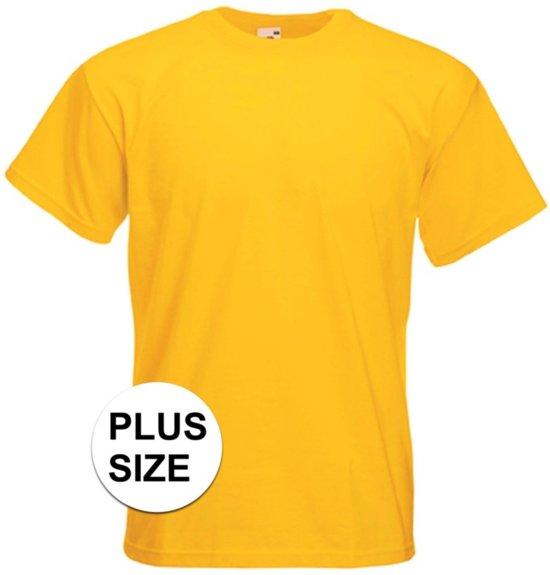 Grote maten basic gele t-shirt voor heren - voordelige katoenen shirts 3XL (46/58)