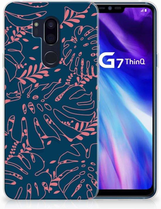 LG G7 Thinq TPU Hoesje Design Palm Leaves