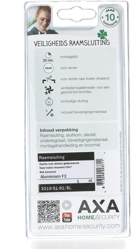 AXA RAAMSLUITING CILINDER RECHTS SKG1 ALU F2 33195192BL