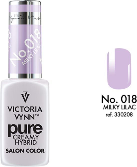 VICTORIA VYNN™ Gel Nagellak - Gel Polish - Pure Creamy Hybrid  - 8 ml - Milky Lilac  - 018 - Lila