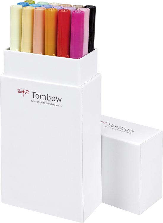 Tombow ABT dual-brush tekenpennen (set van 18) - secundaire kleuren
