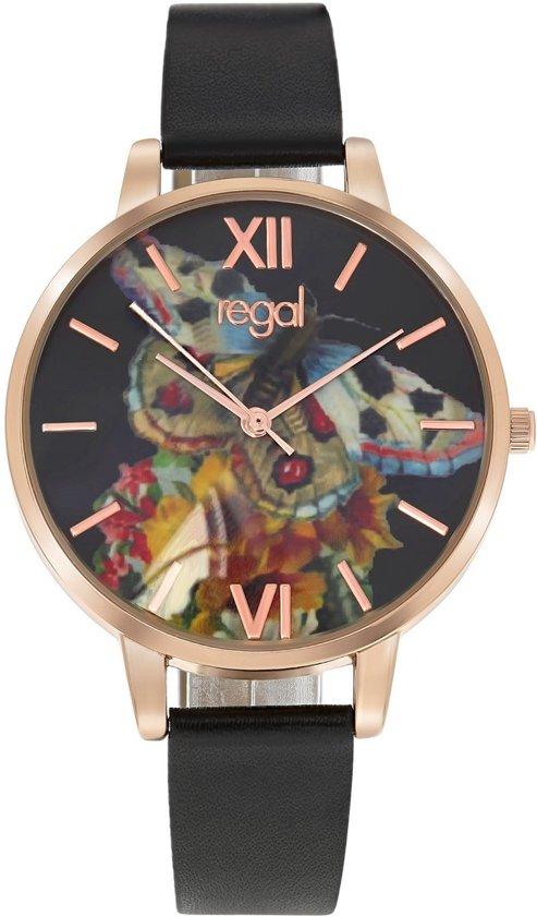 Regal - Regal horloge met een zwarte leren band