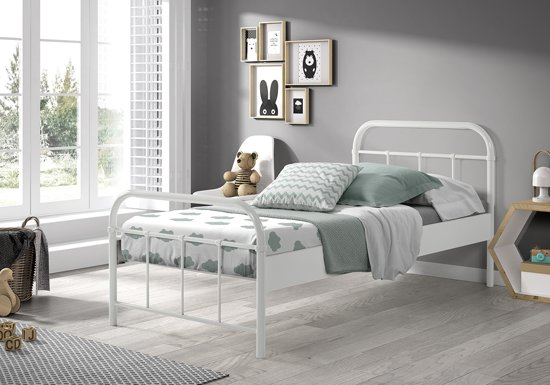 Vipack - Boston bed 90x200 cm - wit