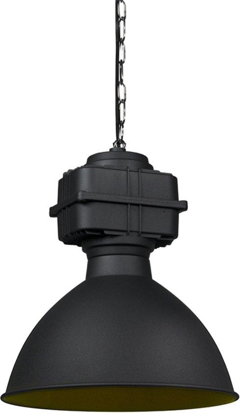 QAZQA sicko hl - Hanglamp - 1 lichts - Ø 385 mm - Zwart