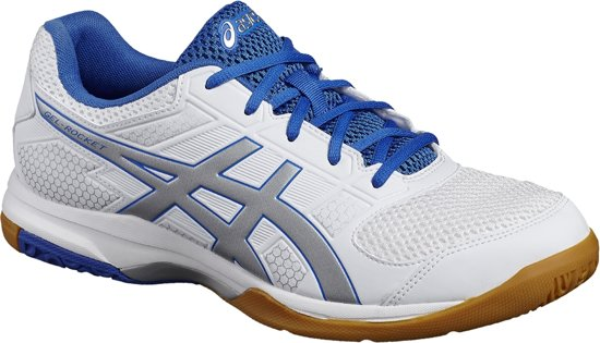 Asics Gel-Rocket 8 B706Y-0193, Mannen, Wit, Volleybalschoenen maat: 48 EU