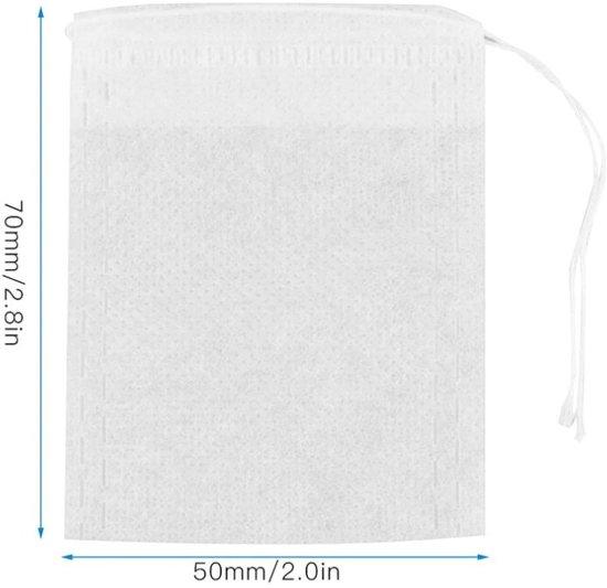 Lege Theezakjes - Theefilter papier - Theezeef - Teabag - b2c thee zakjes - Theefilters - Witte papieren filter