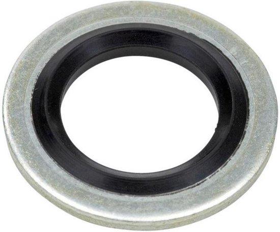 Onderlegring - Bonded Seal - 76,08x90,17x3,2 - Staal / NBR - Zelf centrerend