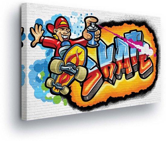 Graffiti Skate Canvas Print 60cm x 40cm