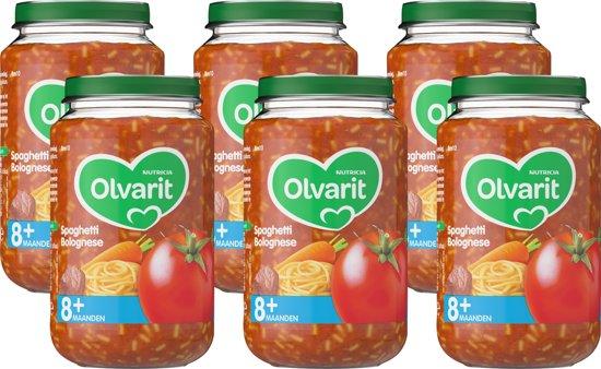 Olvarit 8 maanden Groentehapjes - spaghetti bolognese - 6x200 gram