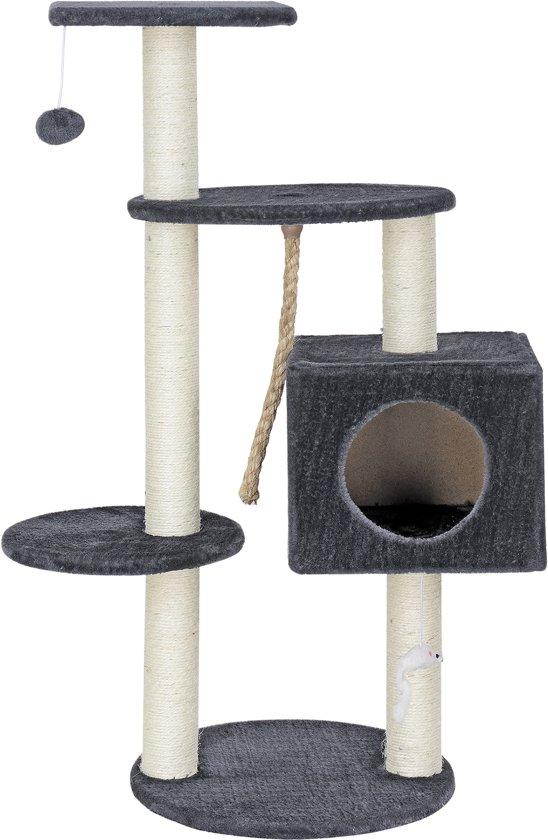 [en.casa]® Krabpaal - krabspeelgoed  - Grijs