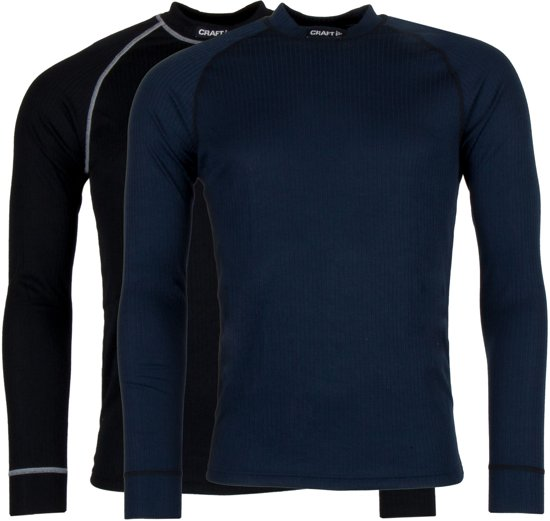 Craft Active 2-Pack Tops Heren Thermoshirt - Black/Blaze - XL