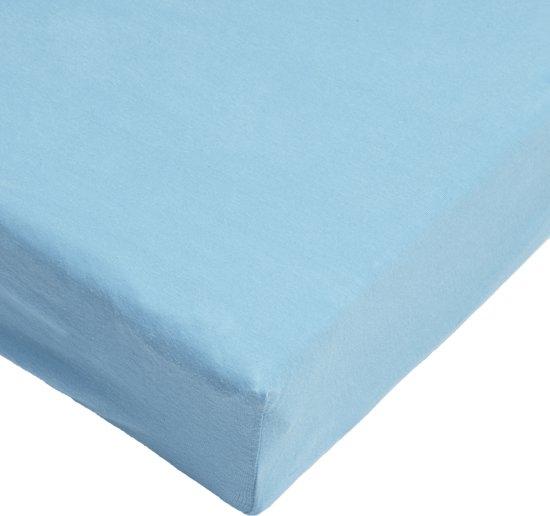 Day Dream Jersey Hoeslaken -180 x 200 cm - Blauw