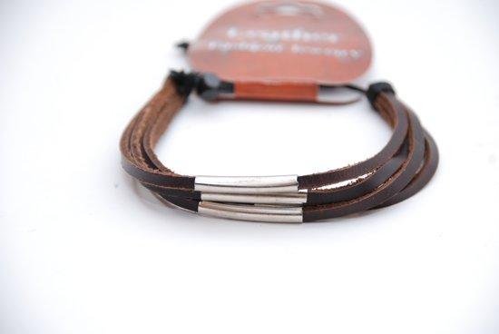 91e07ab107b bol.com | Stoere leren handgemaakte armband