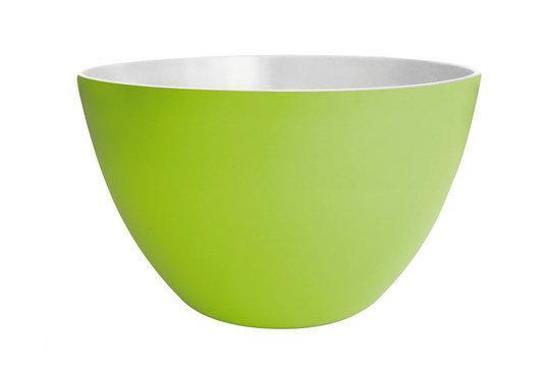 Zak!Designs Saladeschaal Twotone 28 cm. Lime/wit
