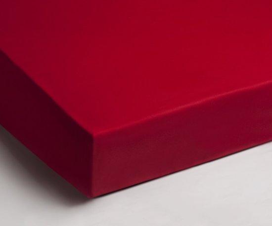 Comfortabele Katoen Hoeslaken Rood | 90x220 | Fijn Geweven | Ademend En Zacht