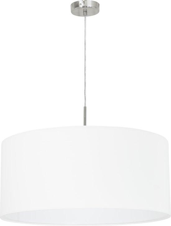 EGLO Pasteri - Hanglamp - 1 Lichts - Ø530mm. - Nikkel-Mat - Wit