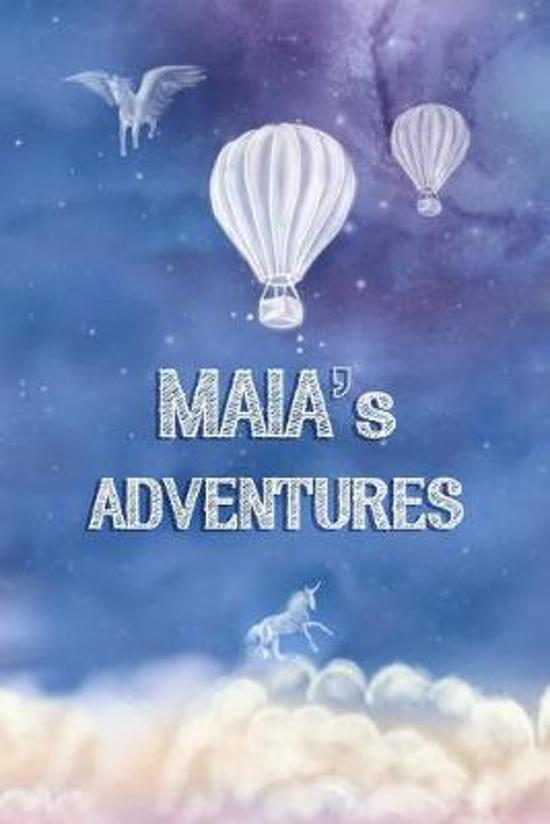 Maia's Adventures: Softcover Personalized Keepsake Journal, Custom Diary, Writing Notebook with Lined Pages