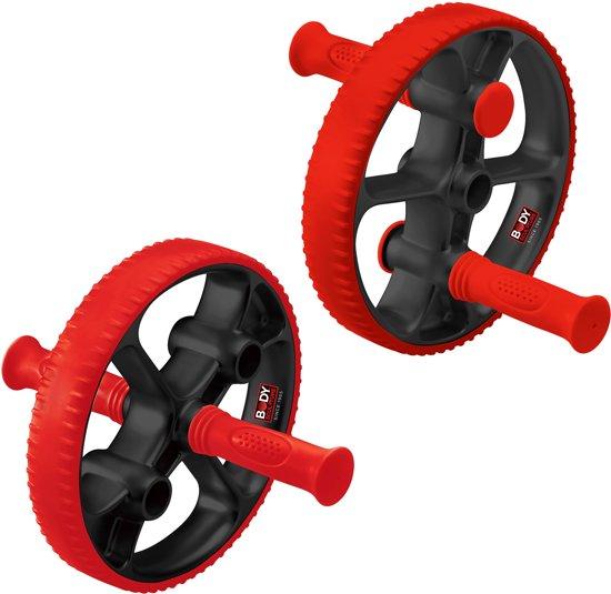 Body Sculpture AB Wheel Plus - Buikspierwiel Met Verstelbare Handgrepen - Kunststof buikspiertrainer