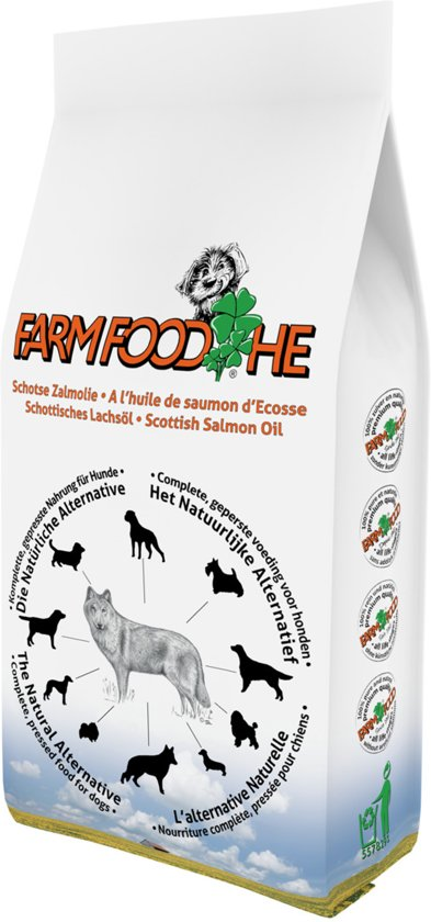 Farmfood High Energy - Schotse Zalmolie 15 kg en gratis verrassing