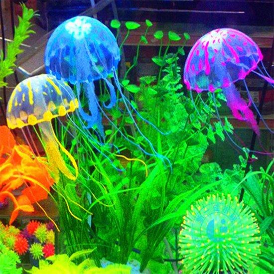 ProAqua - Aquarium decoratie - Kwallen - 4 stuks - Verschillende kleuren - Aquarium ornament - Glow in the dark effect - Gloeiend effect - Bewegen mee met de stroom