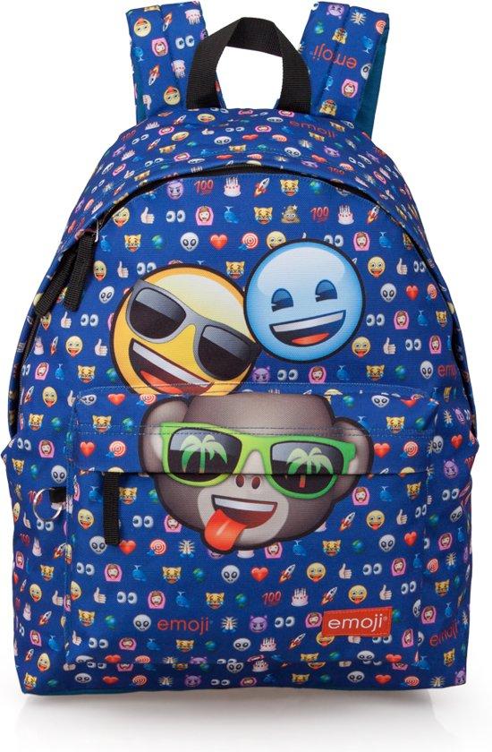 e00e9ad88cb bol.com | Emoji - 3 vrienden Rugzak - 42 cm hoog - Blauw