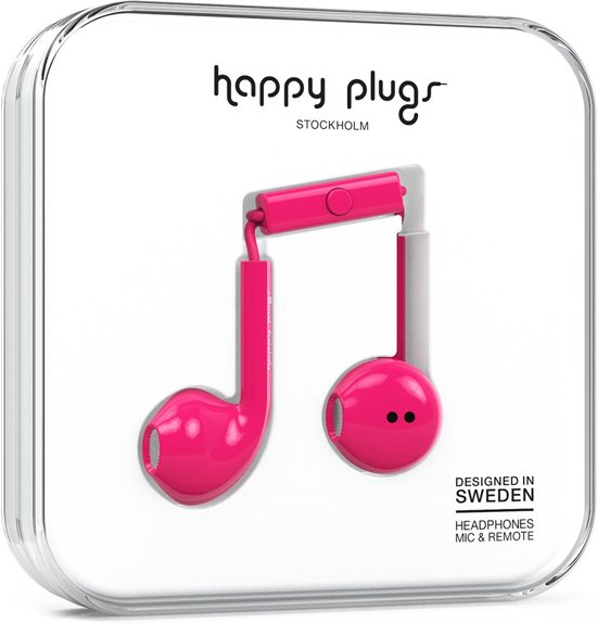Happy Plugs Earbud Plus - In-ear oordopjes - Kers
